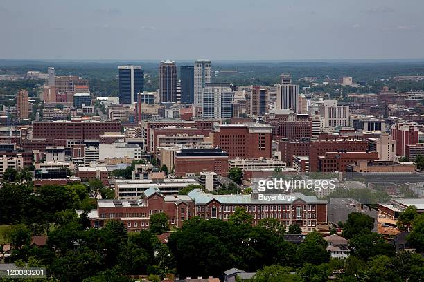 Cityscape as seen from the Vulcan Statue Birmingham Alabama 2010