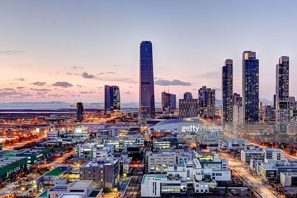 Cityscape at night : Stock Photo