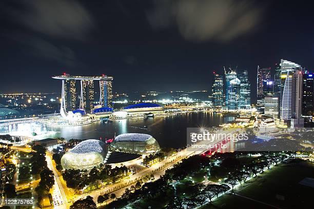 Cityscape at night, Singapore