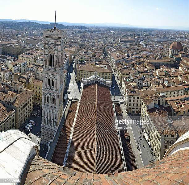 Cityscape from top of the cupola of Duomo