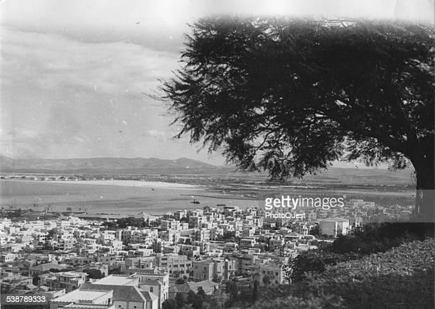 Cityscape Haifa Israel 1946