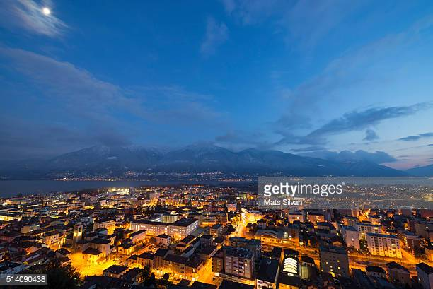 Cityscape in blue hour