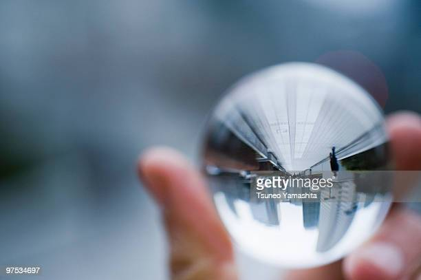 Cityscape in the glass ball