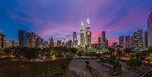 Cityscape: Kuala Lumpur during a colorful sunset