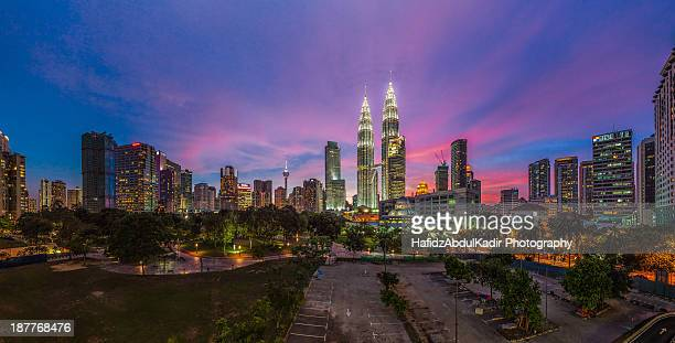 Cityscape: Kuala Lumpur during a colorful sunset