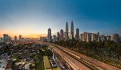 Cityscape: Kuala Lumpur on a clear morning