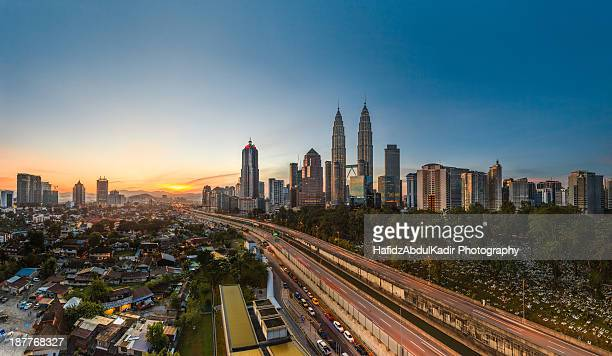 Cityscape: Kuala Lumpur on a clear morning