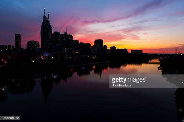 Cityscape: Nashville Tennessee at golden hour