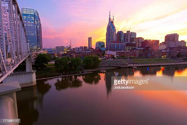 Vista da Cidade: Nashville, Tennessee golden hora