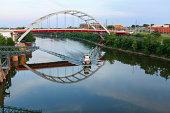 Cityscape: Nashville Tennessee Skyline Gateway Bridge