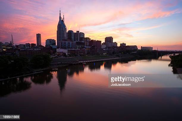 Cityscape: Nashville Tennessee Skyline Golden hour