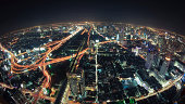 Cityscape night, Bangkok bird eye view