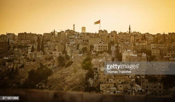 Cityscape of Amman in the evening light on April 23 2017 in Amman Jordan