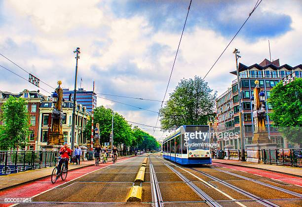Cityscape of Amsterdam in Netherlands in summertime