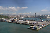 Cityscape of Barcelona from the port