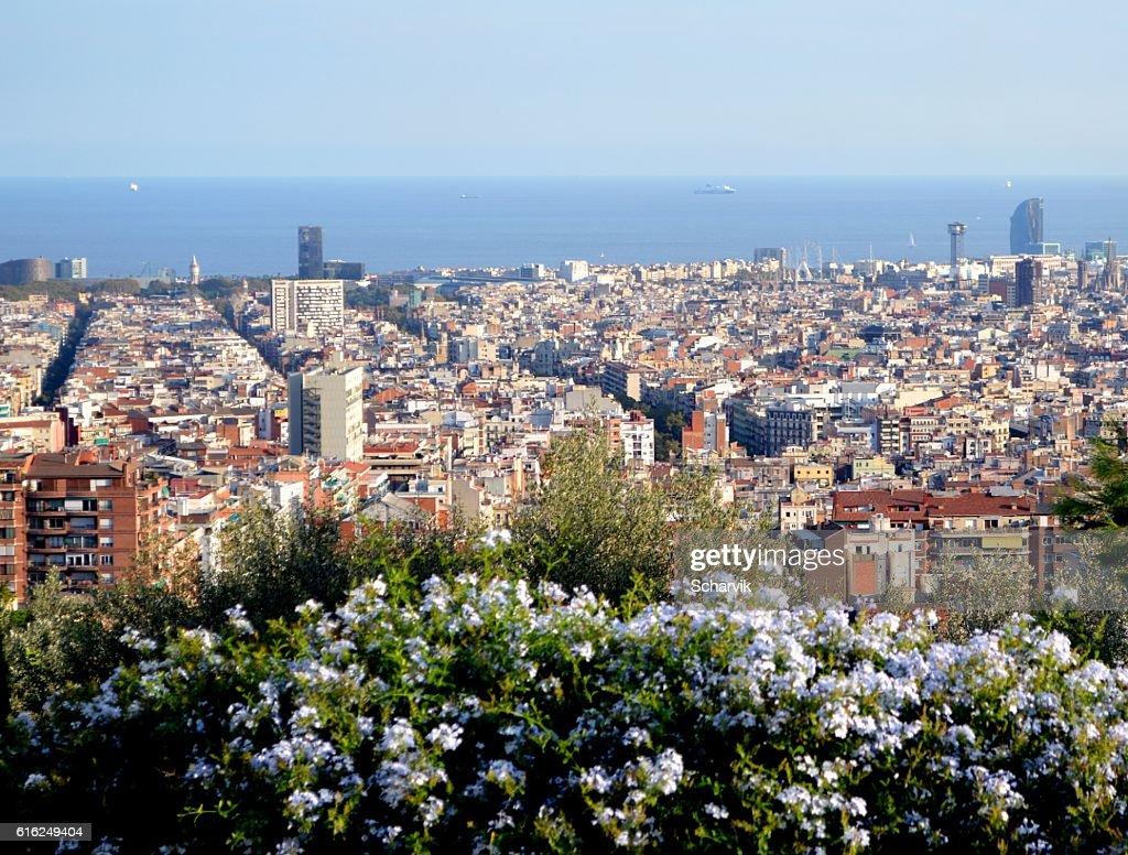 Skyline von Barcelona : Stock-Foto
