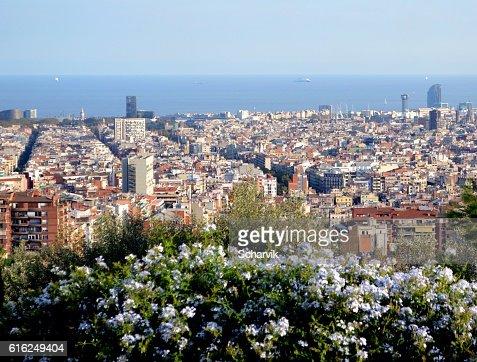 Cityscape of Barcelona : Stock Photo