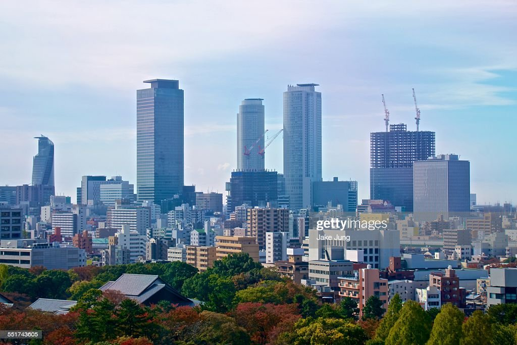 Cityscape of central Nagoya skyscrapers