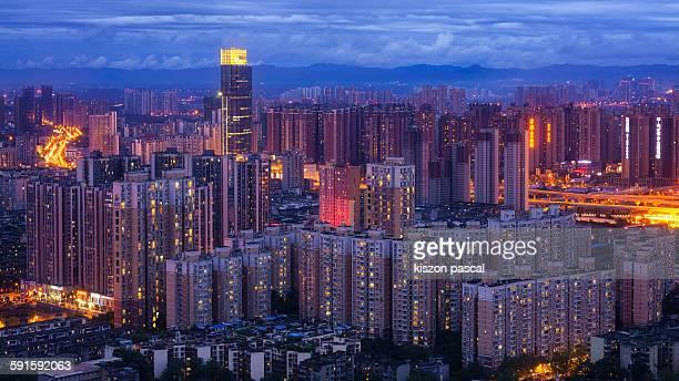 Cityscape of Chengdu, China