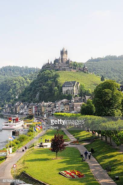 Cityscape of Cochem with Mosel river