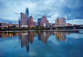 Cityscape of Downtown Austin and Colerado river