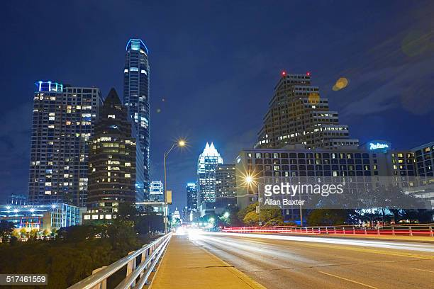 Cityscape of Downtown Austin at night