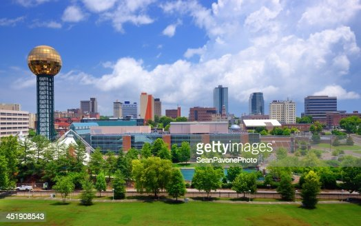 Cityscape of downtown Knoxville : Stock Photo