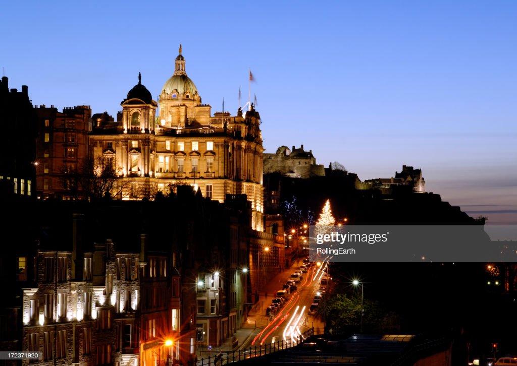 Edimburgo por la noche : Foto de stock