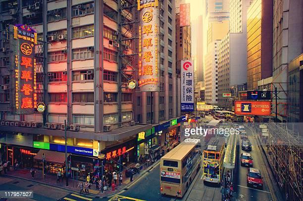 Cityscape of Hong Kong in dusk