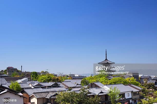 Cityscape of Kyoto, Kyoto Prefecture, Honshu, Japan