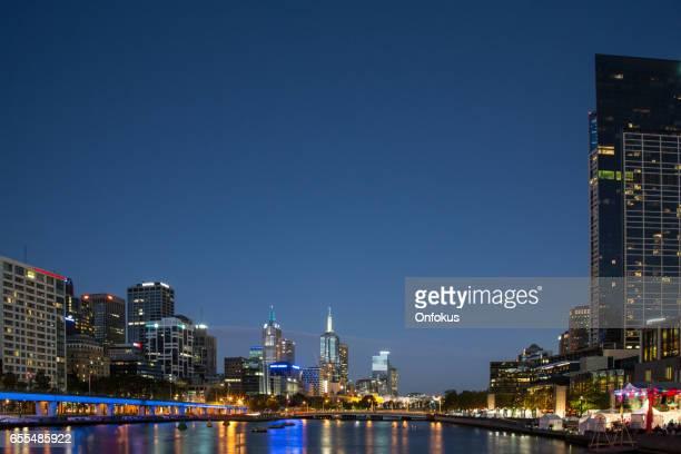 Cityscape of Melbourne at Sunset, Australia