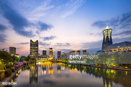 cityscape of modern city in hangzhou zhejiang