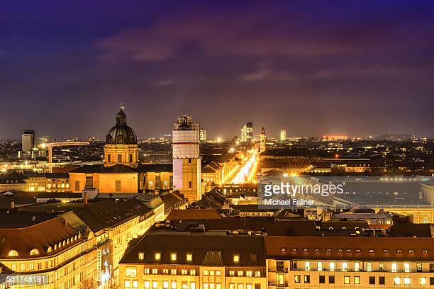 Cityscape of Munich at night