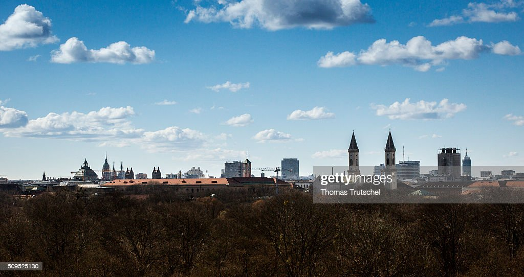 Cityscape of Munich on Februar 11, 2016 in Munich, Germany.