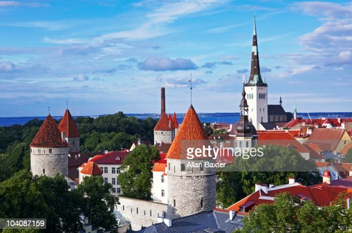 Cityscape of old town, Tallinn