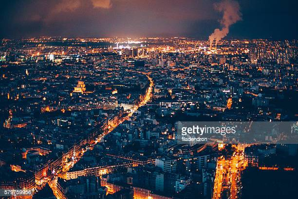 Cityscape of Paris at night