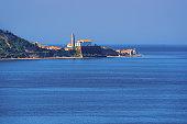 Cityscape of Piran old city at Adriatic sea, Slovenia