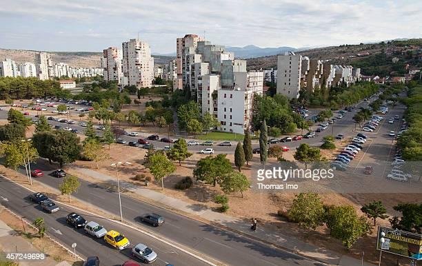 Cityscape of Podgorica on August 10 in Podgorica Montenegro