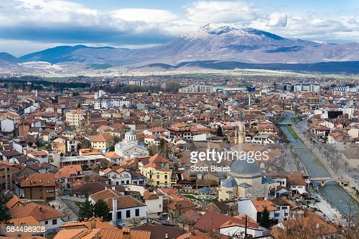 Cityscape of Prizren, Kosovo : Stock Photo