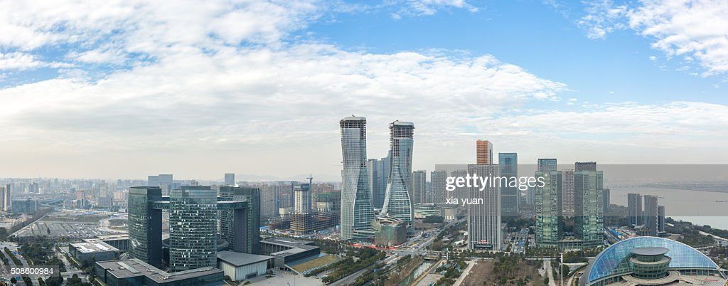 Cityscape of Qianjiang New City CBD,Hangzhou,Zhejiang,China : Foto de stock
