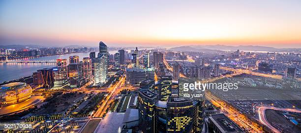 Cityscape of Qianjiang New Town (New CBD district), Hangzhou,China