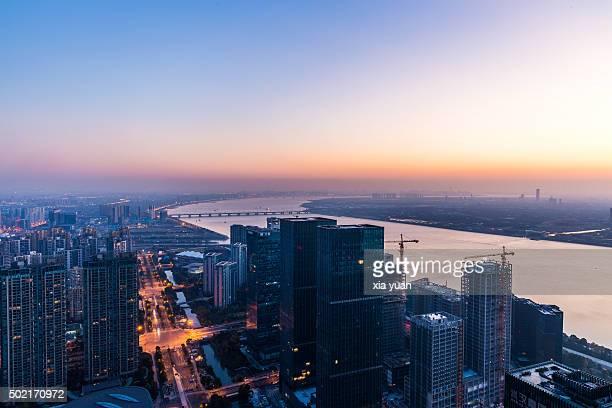 Cityscape of Qianjiang New Town (New CBD district), Hangzhou,China