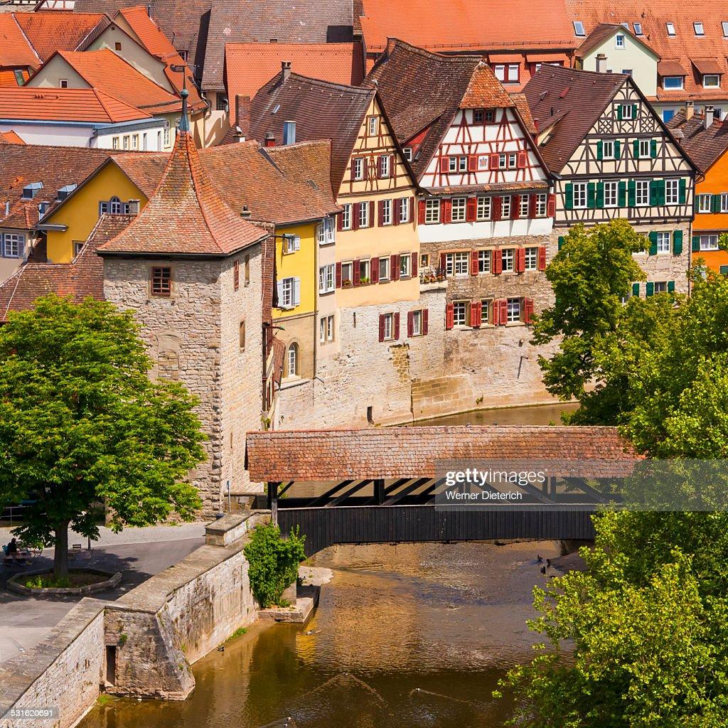 Cityscape of Schwabisch Hall, Germany