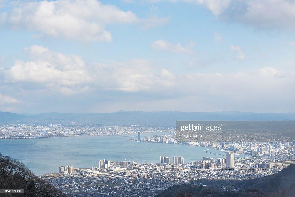 Cityscape of Shiga Prefecture, Japan.
