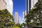 Cityscape of Shinjuku, Tokyo Prefecture, Honshu, Japan