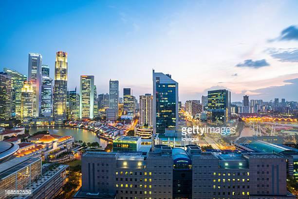 シンガポールの都市の街並