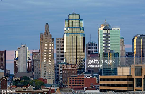 Cityscape of skyscrapers in downtown Kansas City