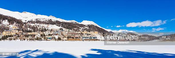 Cityscape of St. Moritz, Grisons, Switzerland