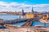 Cityscape of Stockholm city skyline in Stockholm, Sweden.