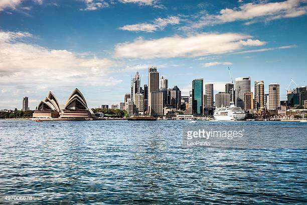Cityscape of Sydney Downtown and Harbor